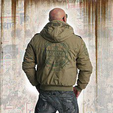 Yakuza TRADE OF KINGS MILITARY JACKET WJB 11027 Dusky Green