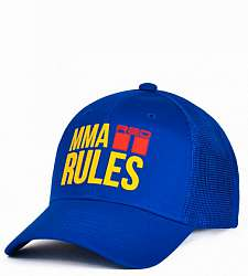 kšiltovka DOUBLE RED MMA RULES Blue Cap