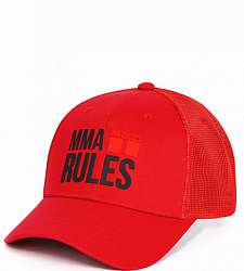 kšiltovka DOUBLE RED MMA RULES Red/Black Cap