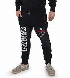 tepláky Yakuza BRICKS ZIP JOB 15042 Black/Red