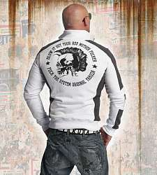 mikina Yakuza PUNX TWO FACE TRACK TOP ZB 11020 White